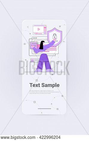 Woman Developer Creating Mobile Website Ui Web Application Development Program Software Optimization