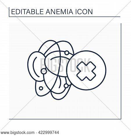Blood Hemophilia Line Icon. Inherited Bleeding Disorder. Disease Symptoms. Health Protection. Anemia