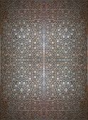 A seamless texture of an islamic design on carved wood poster