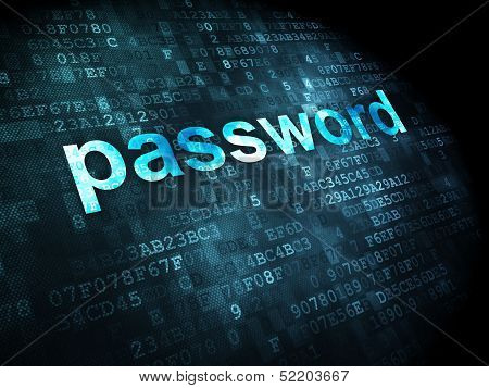 Security concept: Password on digital background