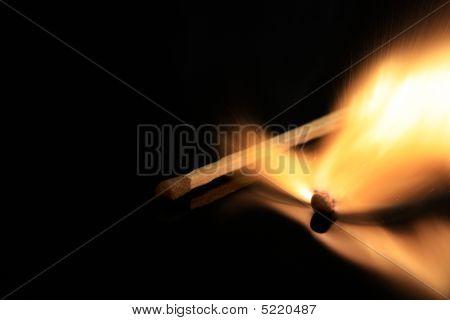 Exploding Match On Black