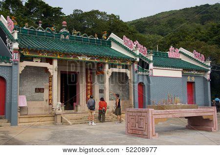 Hong Kong, China, November 20: Worshippers Visiting Tin Hau Temple on November 20, 2011