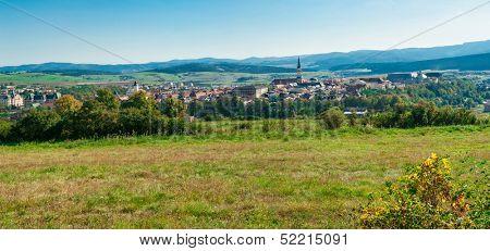 Famous Town of Levoca, Slovakia. UNESCO World Heritage Site. Panoramic photo