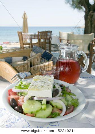Greek Salad In The  Islands