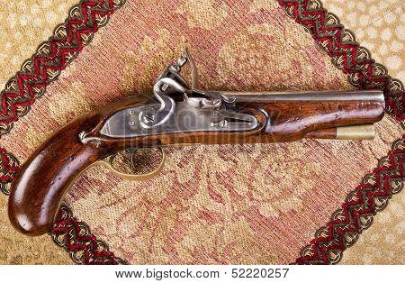Antique English Flintlock Pistol.