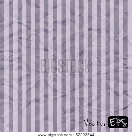 Vector abstract gray background crumpled old paper parchment with rumpled texture, strip pattern poster