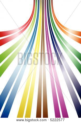 Abstract editable vector design of colored lines using gradients poster