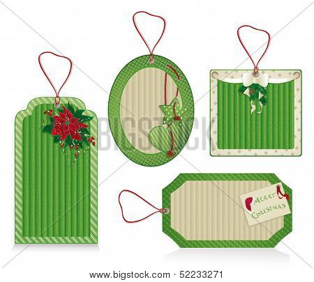 Christmas Eco Labels Green
