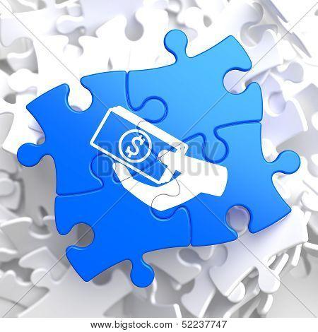 Puzzle Pieces: Donate Concept.