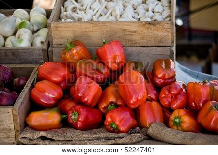 Red Bell Peppers Organic