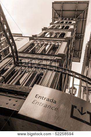 Santa Justa Lift ( Elevador de Santa Justa) also called Carmo Lift, Lisbon, Portugal