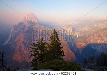 Half Dome At Sunset, Yosemite Valley