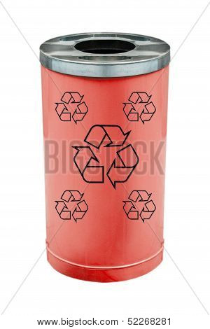 recycle red bin