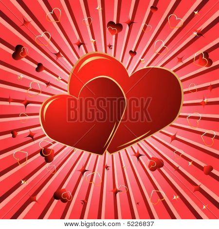 Valentine Background. Vector Illustration