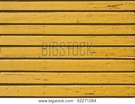 Old Yellow Wooden Plank Background