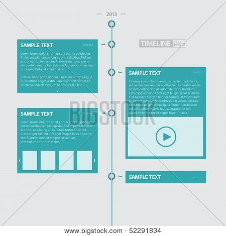 Blue Timeline Infographics / EPS10 Vector Illustration / poster