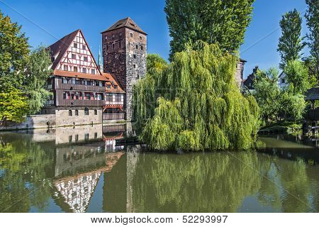 Executioner's bridge in Nuremberg, Germany
