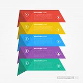 Flat Colorful Step by Step Infographics / EPS10 Vector Illustration / poster