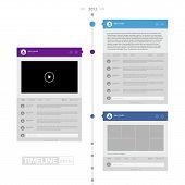 Colorful Flat Timeline Infographics / EPS10 Vector Illustration / poster