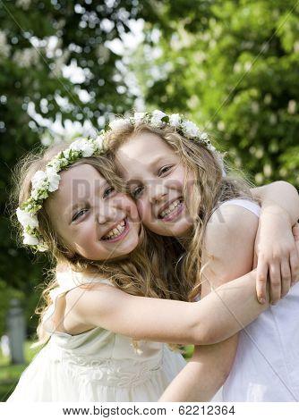 Happy girlfriends - First Communion