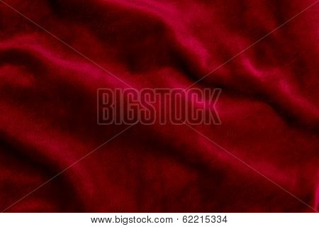 Burgundy Velor Fabric Background