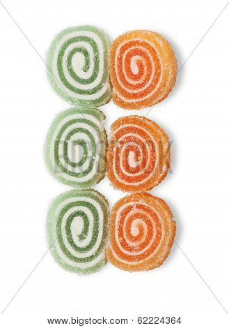 Sweet  Jujubes, Twisted Spiral Isolated
