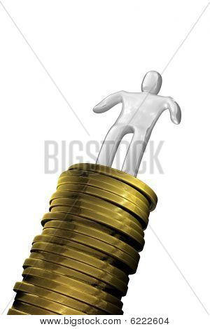 Succes Man With Coins