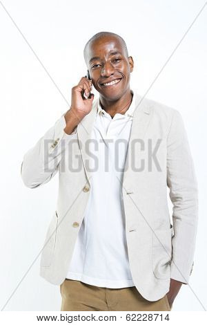 Businessman Talking Business on the Phone