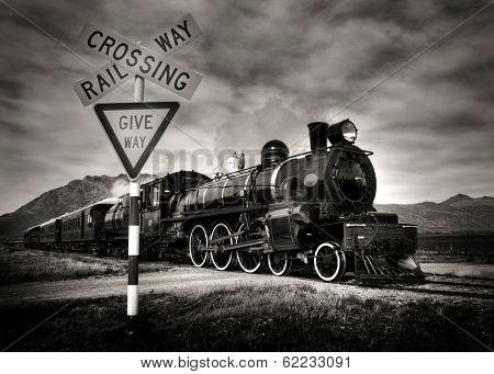 Vintage Steam Locomotive, Kingston, New Zealand