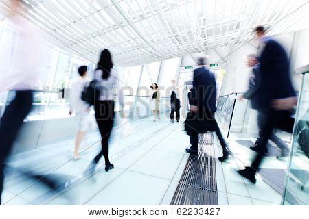 Business People Rushing in Hong Kong