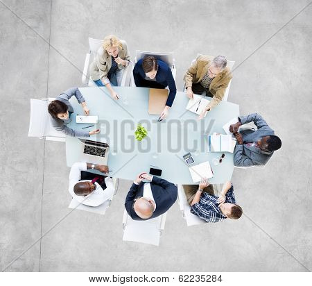 Group Of  Business People Meeting at Conference Table