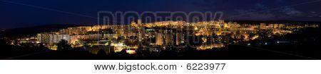night city panorama - karlova ves the part of bratislava capital of slovakia poster