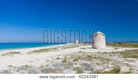 Windmill at Gyra beach, Lefkada, Greece