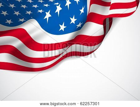 U.S. flag on a white background