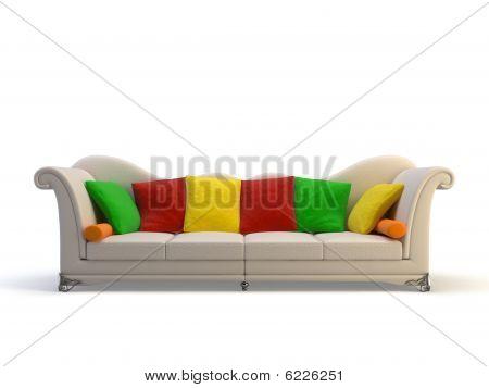 Leather 3D Sofa