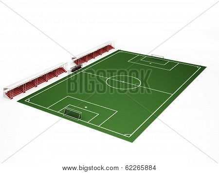Football Field On White Background