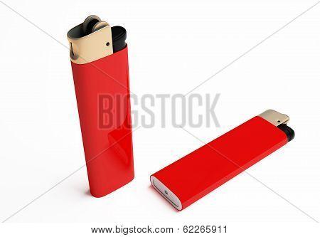 Red Cigarette Lighter