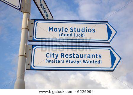 Movie Studios And Restaurants