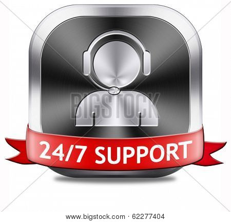 support desk icon or 24/7 help desk button technical assitance and customer service
