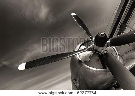 An Old Obsolete Aircraft Propeller