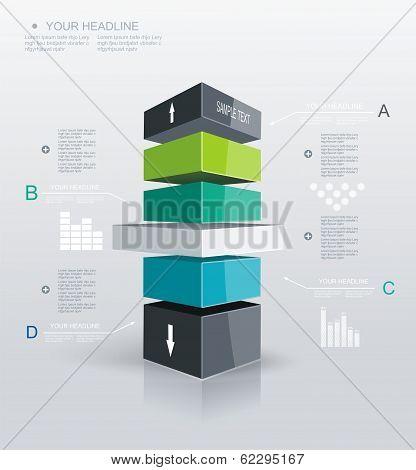 Modern Design Template Infographic.