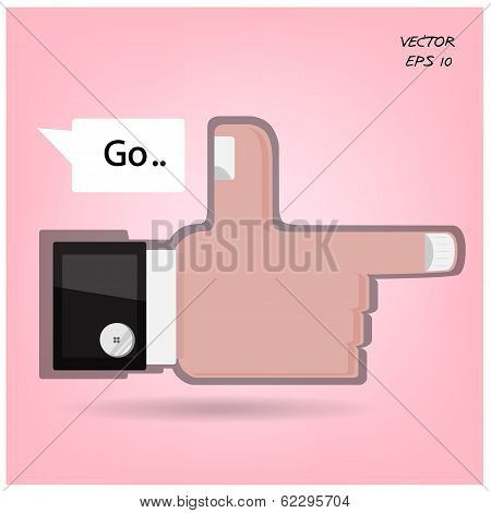 Like us ,hand sign ,go sign