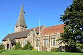 large Parish Church in  Braintree Essex England poster