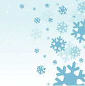 Snowflakes vector illustration abstract background design art poster