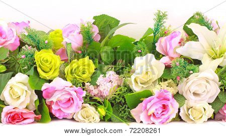 Brightly Colored Artificial Flowers