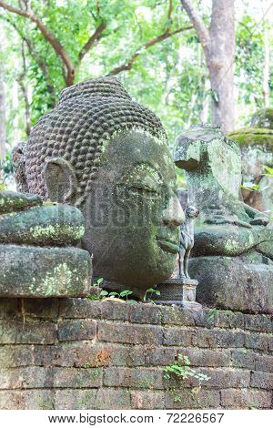 Old Buddha Statue In Umong Temple (wat Umong), Chiangmai Thailand poster