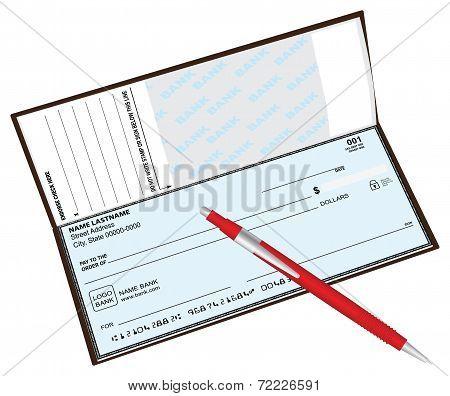 Checkbook Ballpoint Pen