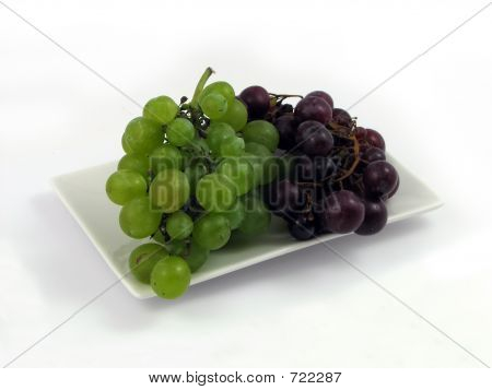 Grapes On Plate