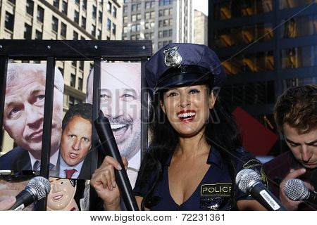 Marni Halassa in police costume