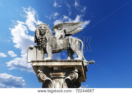 Winged St Mark Lion In Verona - Italy